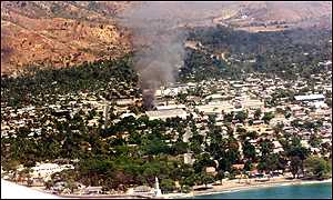 burning of East Timor
